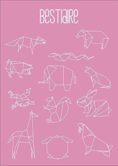 [inspiration] origami animals washitape