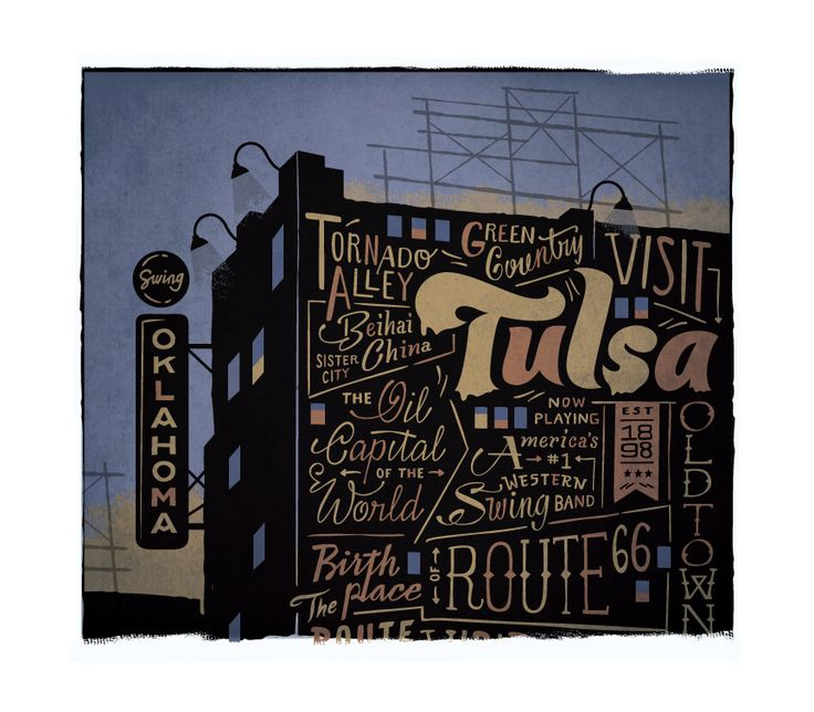 Tulsa - The Everywhere Project: Mo'N Davis, Design Inspiration, Tulsa Time, Design Projects, Daniel Davis, Inspiration Illustrations, Art Tulsa, Graphics Design, Illustrations Design