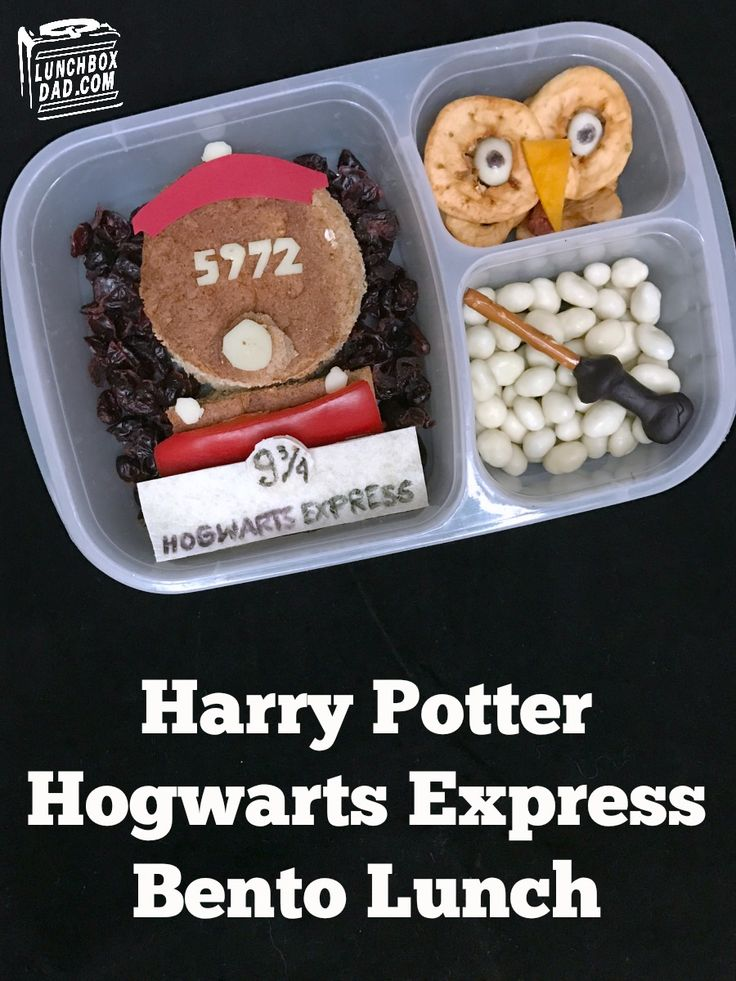 How I made a Harry Potter Hogwarts Express lunch for my daughter.
