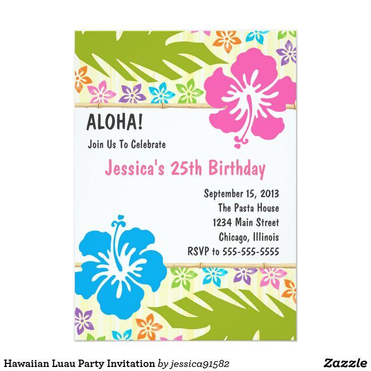 die besten 20+ luau geburtstags einladungen ideen auf pinterest, Einladungsentwurf