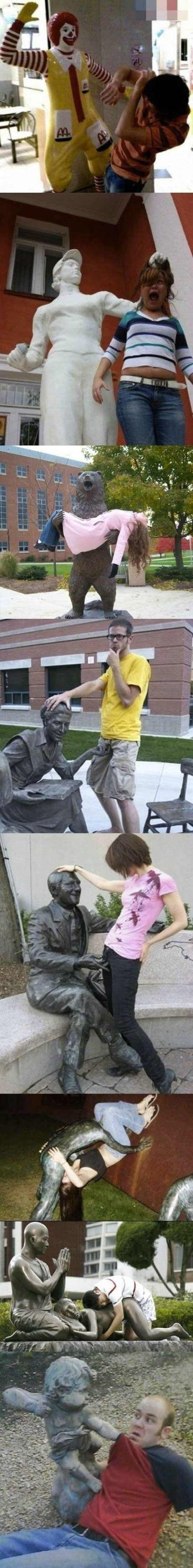One of my favorite things to do - fun photos with statues!! Love these!