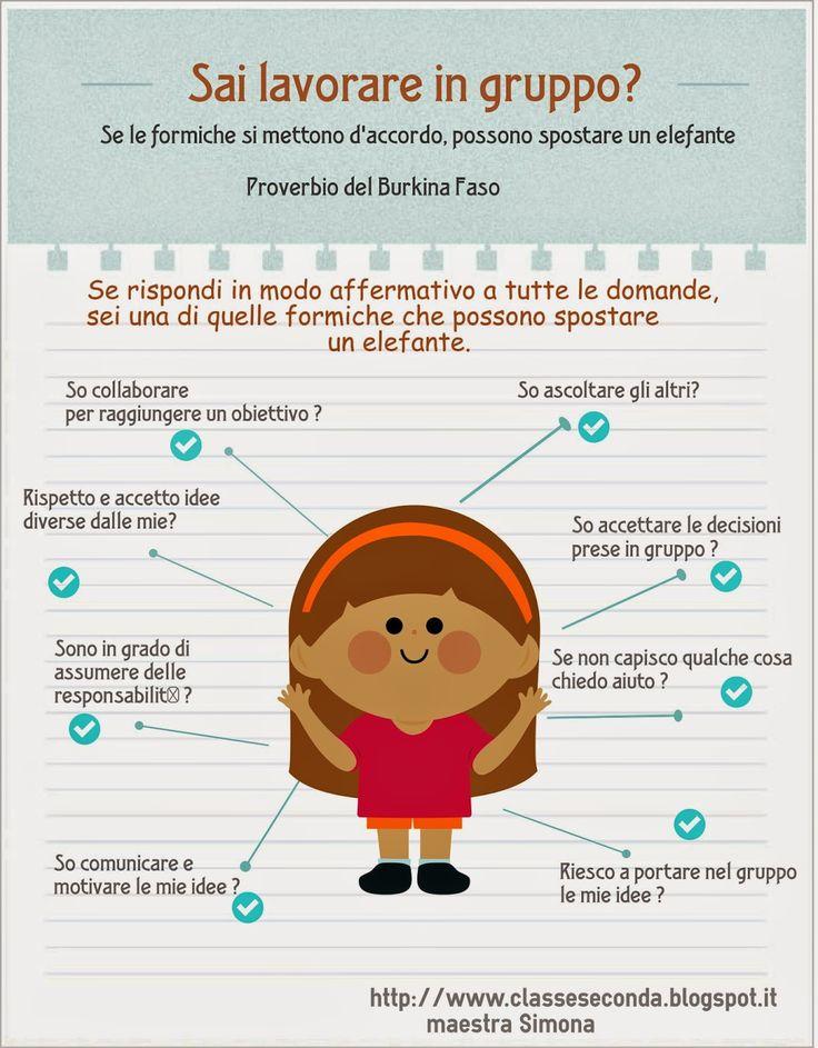 infografica lavoro di gruppo SIAMO IN SECONDA