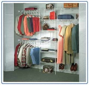 The Set Up Without Adjustable Shelves Wire Closet