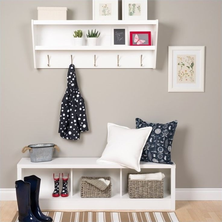 Lowest price online on all Prepac Floating Entryway Shelf with Bench in White - WUXX-0500-1-PKG