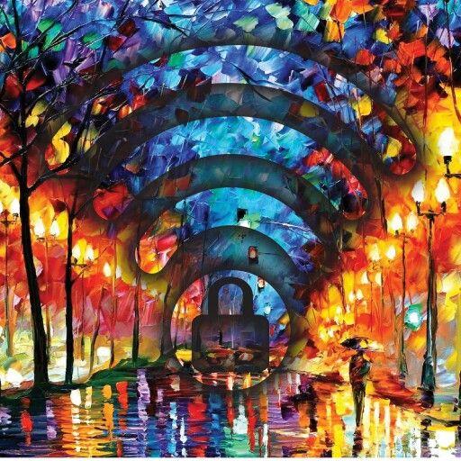 #LeonidAfremov Pintor.Sus obras suelen ser paisajes de naturaleza en colores vivos. #VizorArt