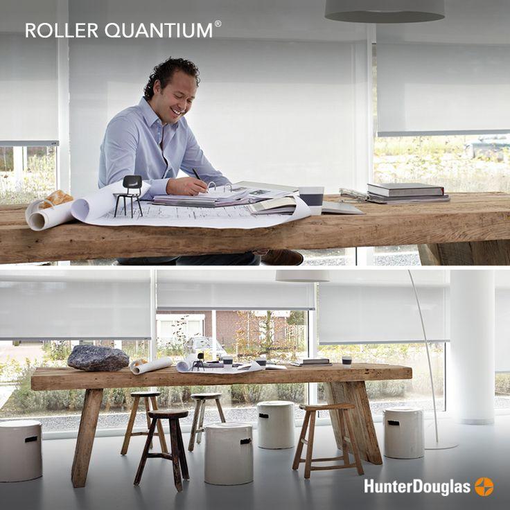 ¡Oficinas rústicas y sofisticadas! Así son las nuevas tendencias de decoración, acompáñala con nuestras Cortina Roller Quantum®.