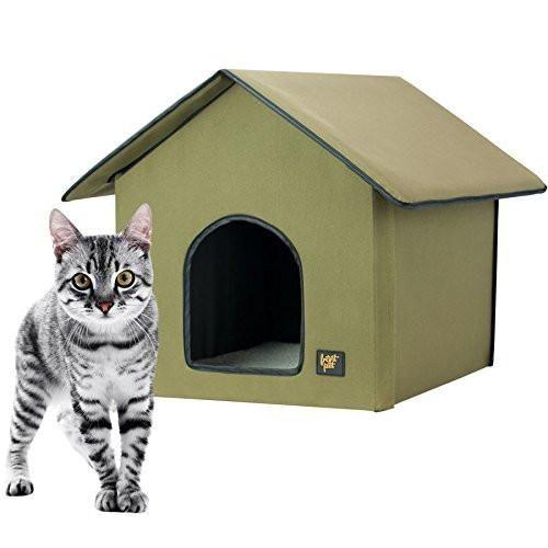 FrontPet 20 Watt Heated Cat House for Indoor & Outdoor Cats -Keep Dry / Cat House / Heated Cat House. Perfect Cat House for Keeping Newborn Kittens Warm!