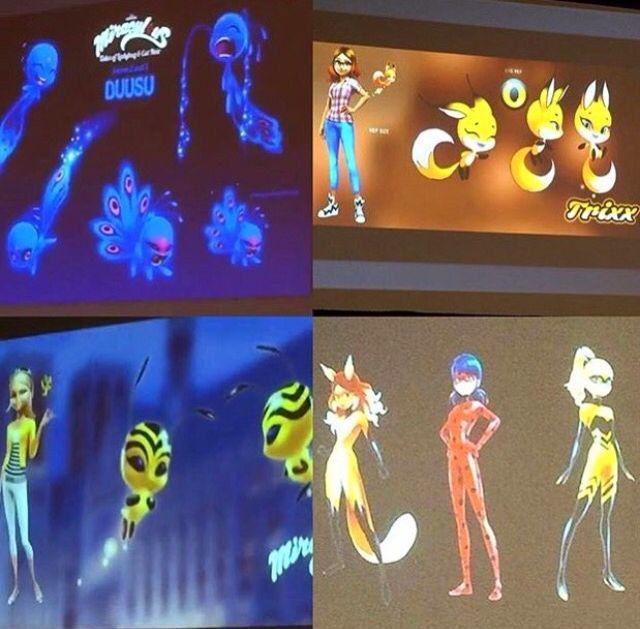 Este comentario contiene spoliers.  Se confirmaron que la portadora de Queen Bee será Chloe y Volpoina será Alya esto se fue confirmado en la comicon de miraculus ladybug