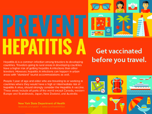 Hepatitis A is a common infection among travelers to developing countries (all countries except: Canada, western Europe and Scandinavia, Japan, New Zealand and Australia). People 1 year of age and older who are traveling to or working in countries where they would have a higher risk of hepatits A virus, should strongly consider the vaccine.