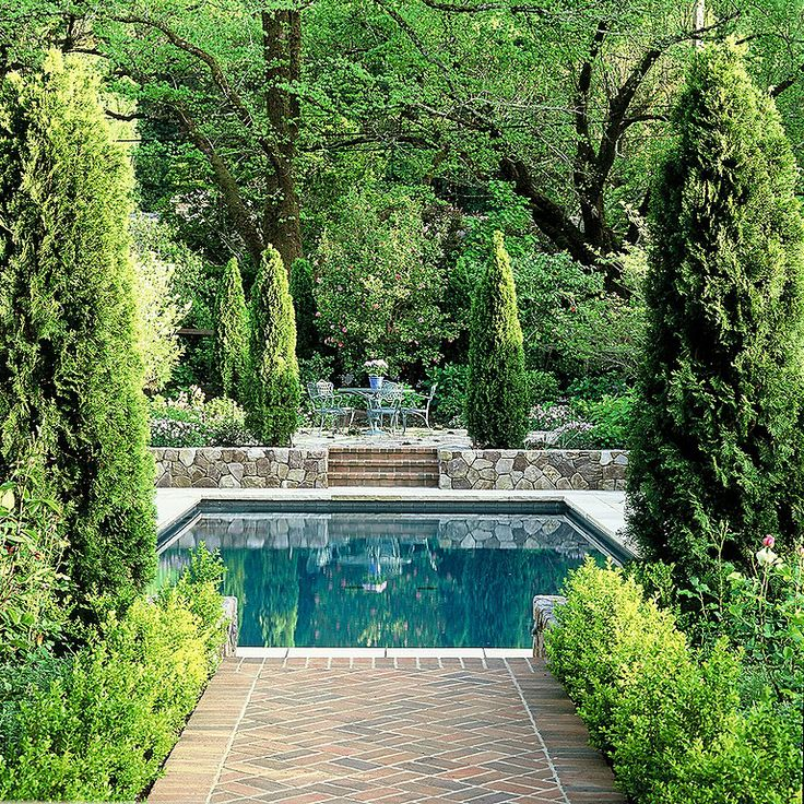 Traditional Garden With Pool: 186 Best Images About Gardenscapes On Pinterest
