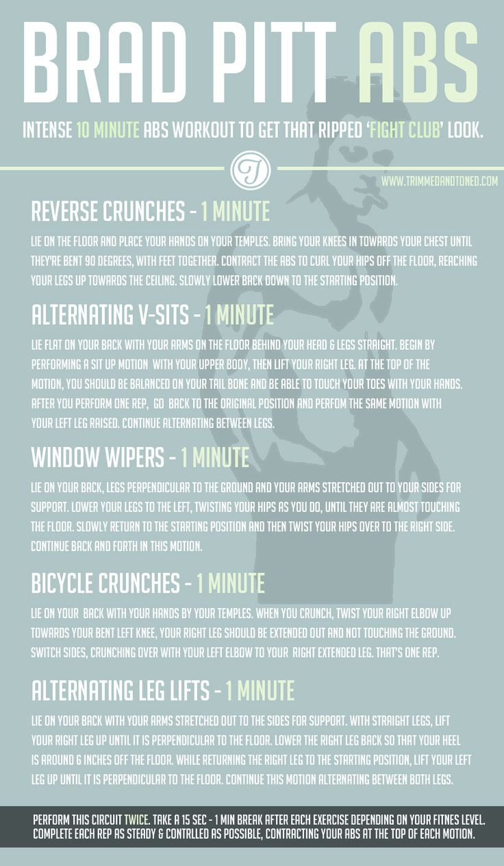 17 Best images about Workout on Pinterest   Brad pitt, Ab ...