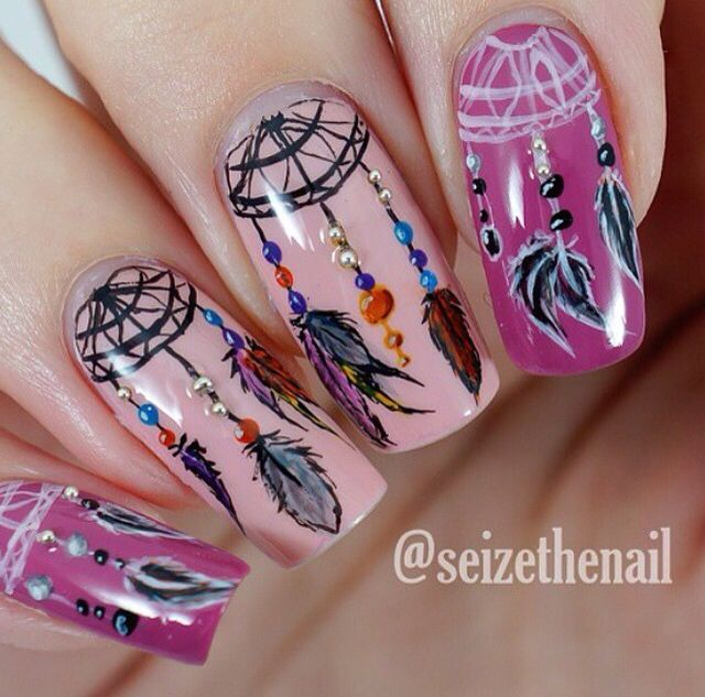 Dream catcher nails.