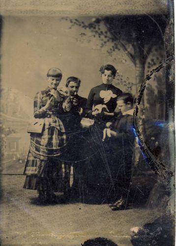 Group-Eating-Bananas-1-6th-Tintype-Vintage-Photograph