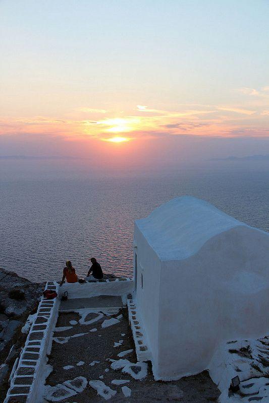 ~Enjoying the sunset in Sikinos~