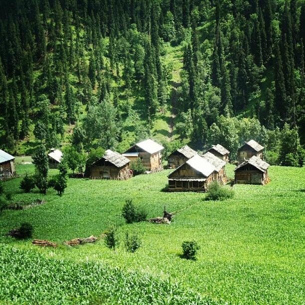 beautiful wooden houses in neelum valley #kashmir # ...