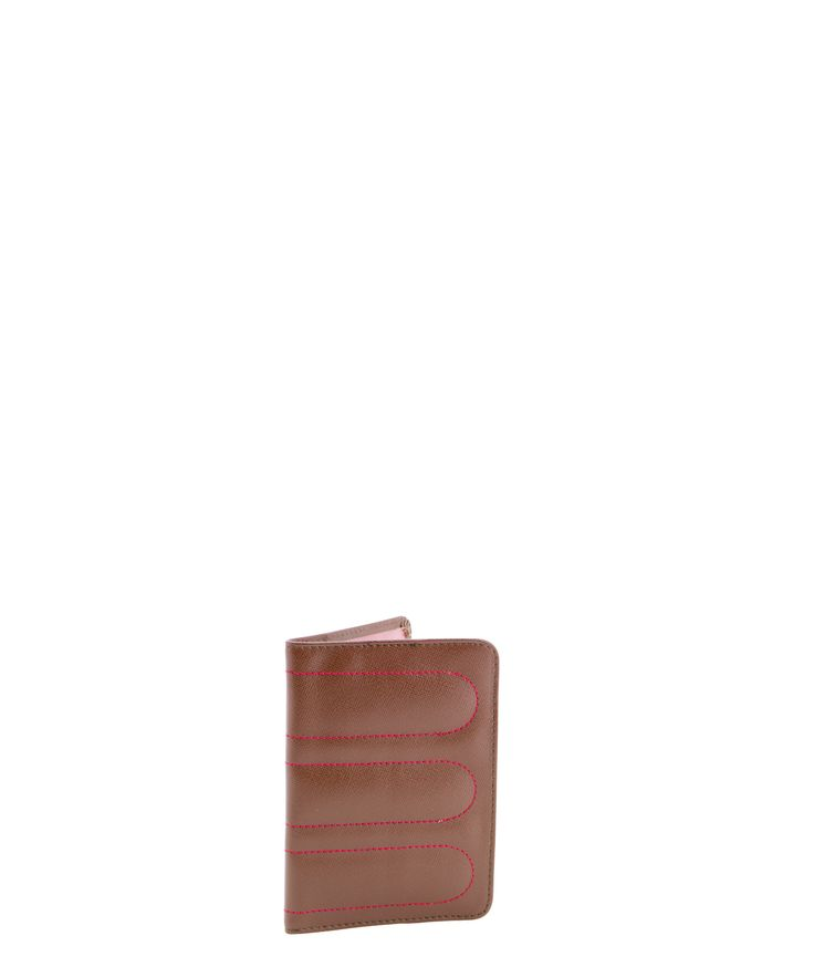 Spencer and Rutherford - sale - Passport Sleeve - Passport Cover - Summer Bloom/Brown