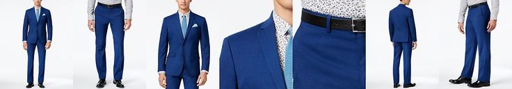 groom-Kenneth Cole Reaction Men's Slim-Fit Bright Blue Suit