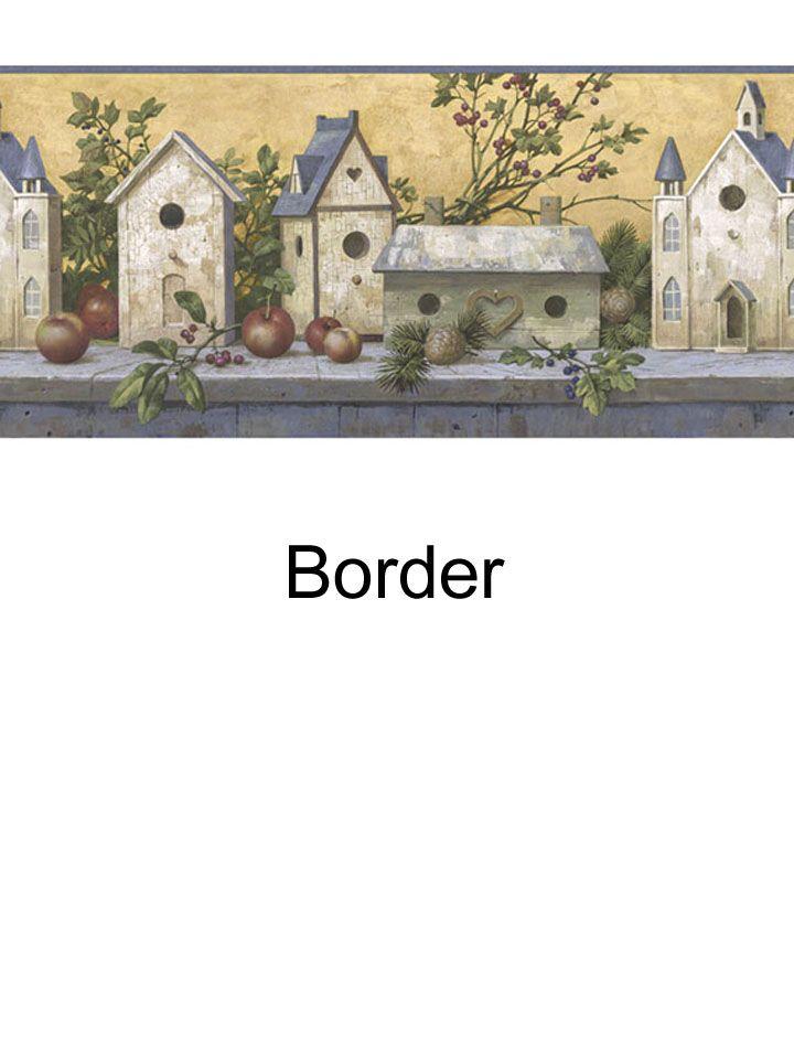 Birdhouse border from wallpaperwholesaler.com