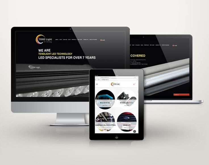 TENDLight LED Technology Online Store Design. By: Gino Caron Creative Design
