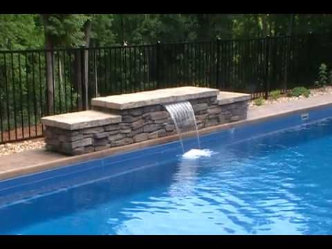 Pool Water Feature Ideas water features landscape Water Features For Pools Hqdefaultjpg Things I Want Pinterest Water Features And Backyard