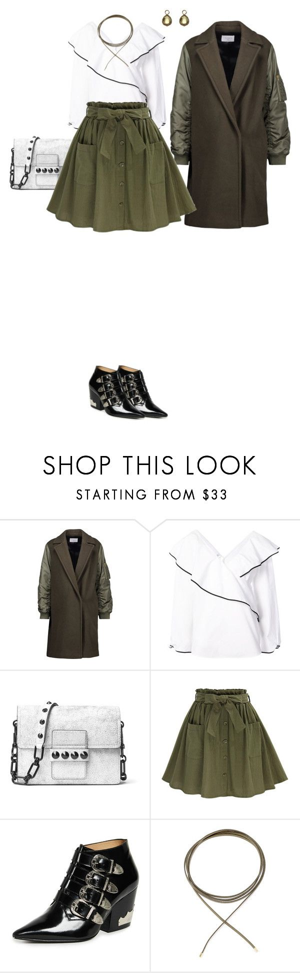 """""""Aceituna"""" by maryjayseven ❤ liked on Polyvore featuring Sandro, Diane Von Furstenberg, Michael Kors, Toga, Annoushka, contest, outfit, outfitoftheday and cowboyboots"""