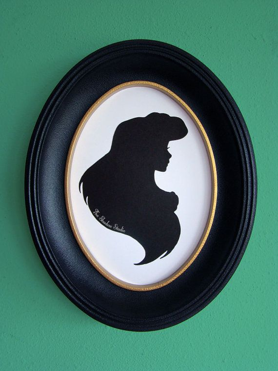 Ariel the Little Mermaid Hand-Cut Paper by TheShadowStudio on Etsy