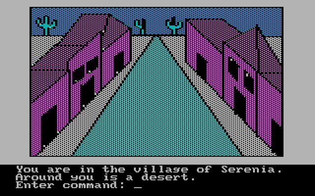 Sierra On-Line released Adventure in Serenia in the year 1982; it's an old fantasy adventure game, part of the King's Quest series.