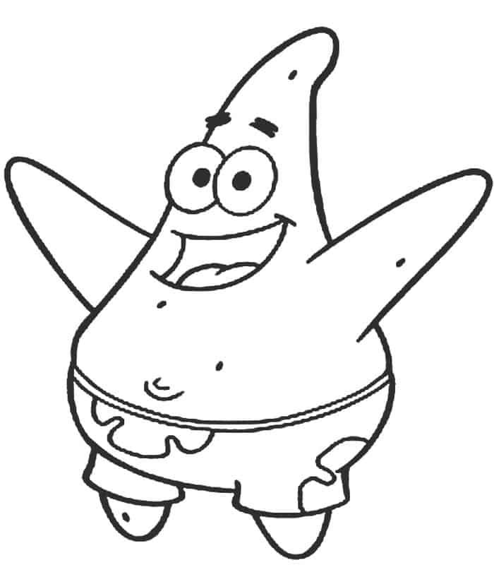 Patrick Starfish Coloring Pages In 2020 Spongebob Drawings Spongebob Coloring Star Coloring Pages