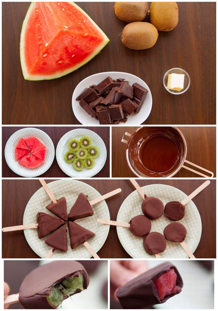 Fruit pops, helados frutales en un plis plas! Una receta súper fácil y fresca by puntcaramel.com