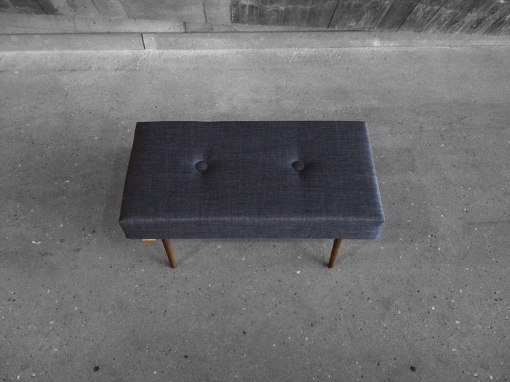 BENCH | take a seat | dark grey with natural finish legs www.benchtakeaseat.com