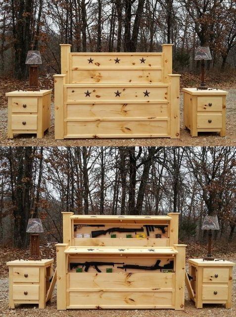 handmade rustic furniture hidden compartment furniture secret gun compartment furniture covert furniture