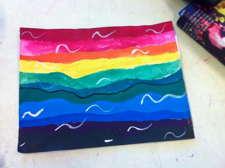 Regenboog bergen