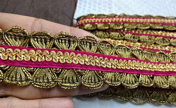 Various Colours Metallic Edging Trim Ribbon Upholstery Sewing Craft Lace Trim
