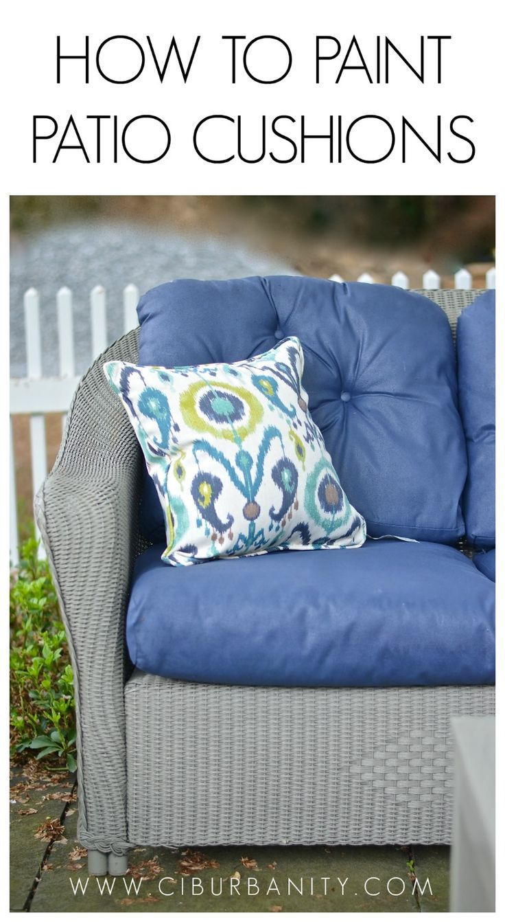 Diy Outdoor Furniture Cushions - How to paint patio cushions
