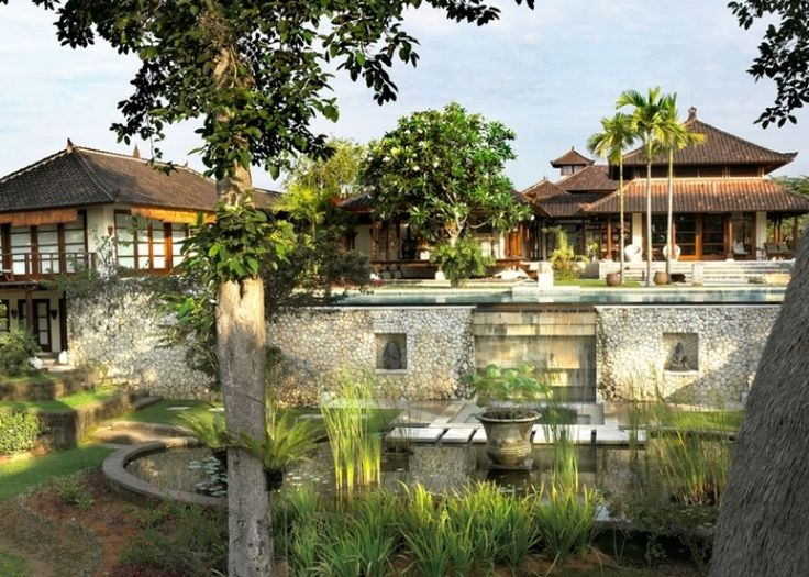 Bali house in colonial style with local art works Bali house designs floor plans