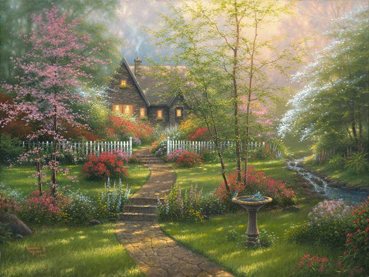 Abraham Hunter S Dogwood Cottage Art Abraham Hunter