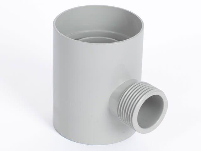 Rainwater diverter in colour light grey.