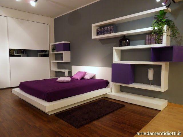 Dormitorios: Fotos de dormitorios Imágenes de habitaciones y recámaras, Diseño y Decoración: DORMITORIO MODERNO PURPURA BLANCO Y GRIS