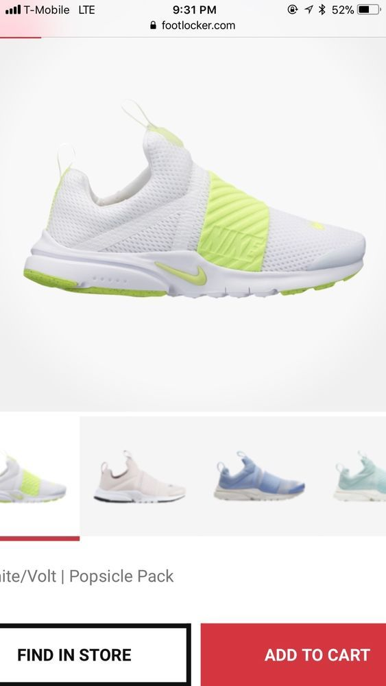 new product 78c39 fb552 Nike Presto Extreme Girls  Grade School White Volt A3513101  fashion   clothing  shoes  accessories  kidsclothingshoesaccs  boysshoes (ebay link)