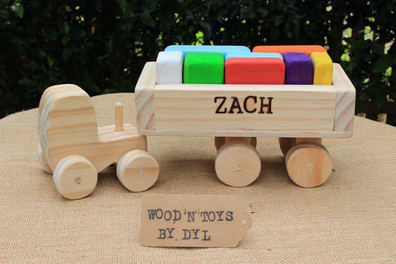 Zach  Custom Handmade Wooden Truck w/ blocks