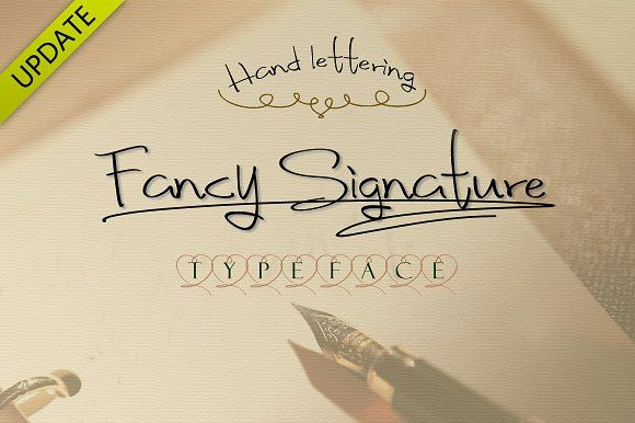 Fancy Signature TrueType Font by alphadesign on @creativemarket