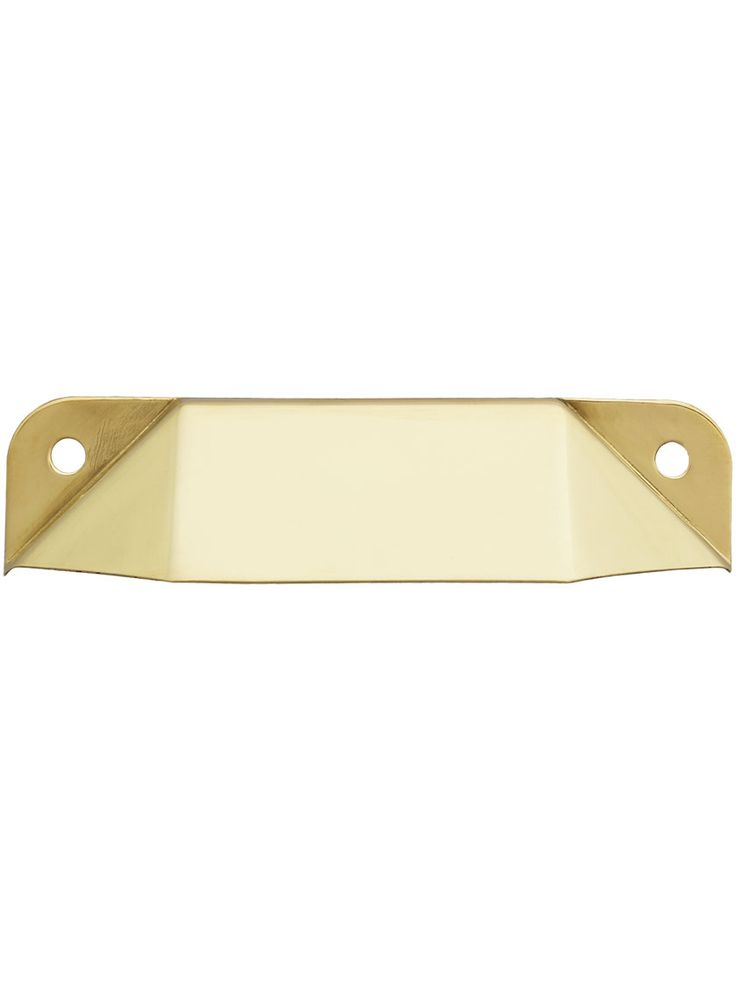"""Solid-Brass Utility Cabinet Pull - 2 7/8"""" Center-to-Center 