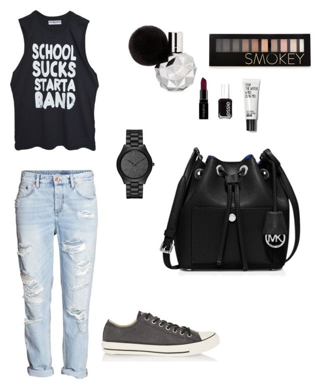 """Just beautiful"" by prosvetovajane ❤ liked on Polyvore featuring H&M, High Heels Suicide, Converse, MICHAEL Michael Kors, Michael Kors, Forever 21, Smashbox and Essie"