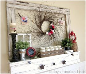 Today's Fabulous Finds: Valentine Mantel with Natural Elements