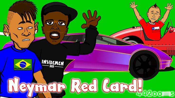 Neymar Red Card! KSI Lamborghini! Vidal Ferrari Crash Ban! Brazil vs Col...