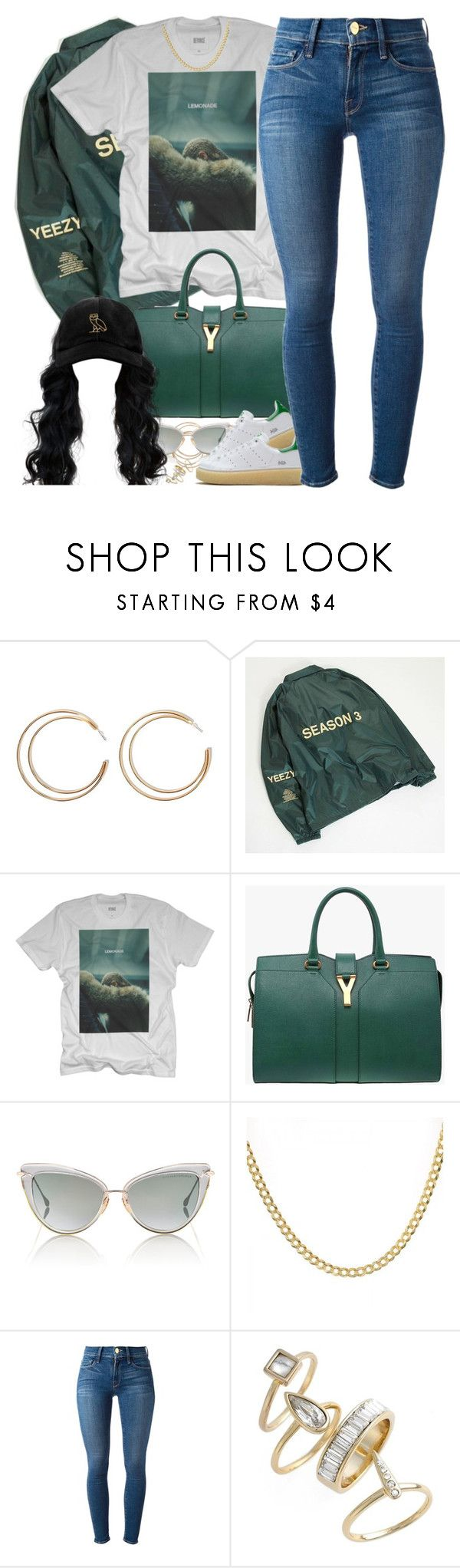 """""""Greenery"""" by oh-aurora ❤ liked on Polyvore featuring Forever 21, Yves Saint Laurent, Dita, Mr. Completely, Frame Denim, Alexis Bittar and October's Very Own"""