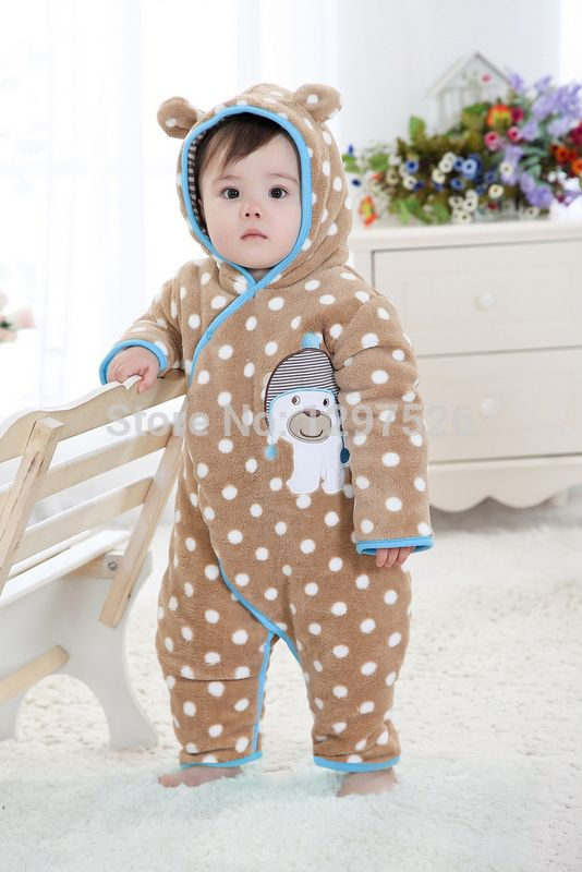 a246766e3a Find More Rompers Information about 2014 New winter baby rompers fleece  thick baby clothes winter children pajamas kids pajamas