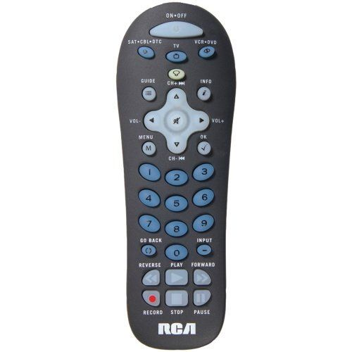 RCA RCRF03B 3-DEVICE FLASHLIGHT UNIVERSAL REMOTE by RCA. $8.99. RCA RCRF03B 3-DEVICE FLASHLIGHT UNIVERSAL REMOTERCA RCRF03B 3-DEVICE FLASHLIGHT UNIVERSAL REMOTECONTROLS TV, SATELLITE/CABLE/DVR, DVD/VCR; PARTIALLY BACKLIT KEYPAD; BUILT-IN FLASHLIGHT; AUTO CODE SEARCH; BRAND/MANUAL CODE SEARCHES & DIRECT CODE ENTRY; MENU SUPPORT; GUIDE SUPPORT; VOLUME & TRANSPORT KEY PUNCH THROUGH; REQUIRES 2 AA BATTERIES***This item is expected to deliver in 4-10 business days. Tracking informat...