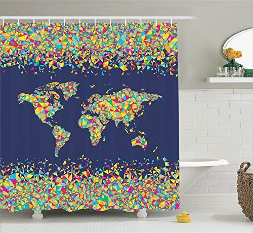 35 best Travel Theme images on Pinterest Aircraft, Airplane and - best of world map bathroom decor