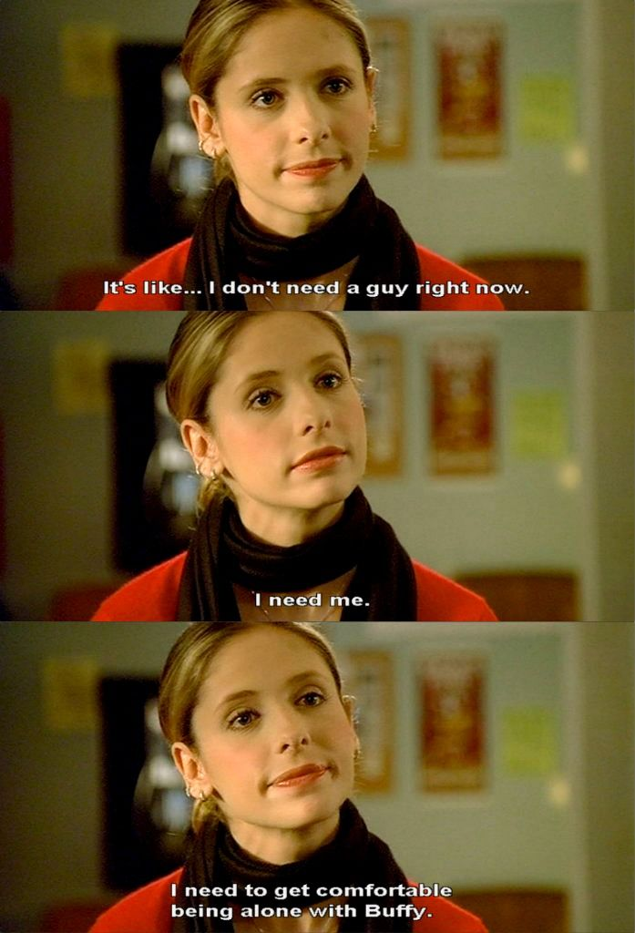 Buffy Summers: Being a role model and telling it like it is for girls everywhere.